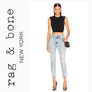 rag & bone high rise skinny jeans Madison holes 25